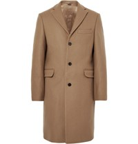 Acne Studios Garret Melton Wool Overcoat Camel