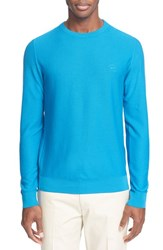 Men's Paul And Shark 'Aqua' Pique Long Sleeve Shirt