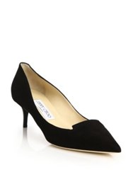 Jimmy Choo Allure Suede Kitten Heel Pumps