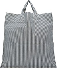 Sunnei Black And White Striped Shopping Tote