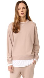 Alexander Wang Soft French Terry Sweatshirt Sandstone