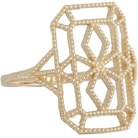 Grace Lee Gold Lace Deco Ring Viii