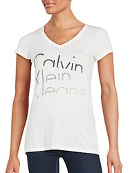 Ck Calvin Klein Solid Logo Printed Tee Classic White