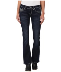 Rock And Roll Cowgirl Rival Low Rise In Dark Wash W6 4490 Dark Wash Women's Jeans Navy