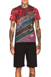 Kenzo Diagonal Striped Mesh Shirt In Red Abstract Red Abstract