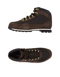 Timberland High Tops And Trainers Dark Brown