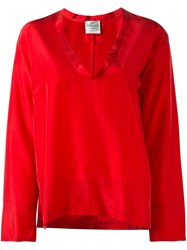 Forte Forte V Neck Blouse Red