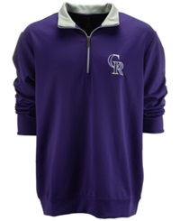 Antigua Men's Colorado Rockies Leader Pullover Purple Silver