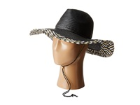 Bcbgmaxazria Tweeded Edge Panama Hat Black Traditional Hats
