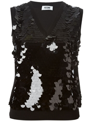 Moschino Cheap And Chic Sequinned Tank Top Black