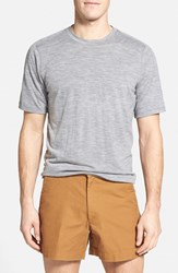 Men's Ibex Regular Fit Overdyed Merino Wool T Shirt Stone Grey Heather
