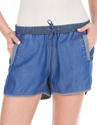 William Rast Denim Gym Shorts Indigo