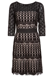 Derhy Ramette Cocktail Dress Party Dress Schwarz Beige