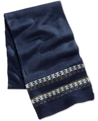 Club Room Men's Knit Scarf Only At Macy's Navy