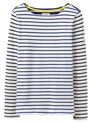Joules Harbour Stripe Long Sleeve Jersey Top Soft Navy Hotchpotch
