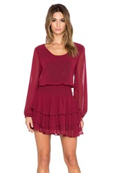 T Bags Losangeles Long Sleeve Mini Dress Wine