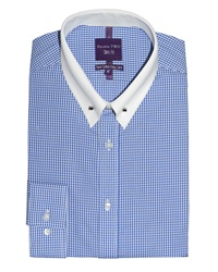 Slim Fit Double Two Formal Shirt Blue