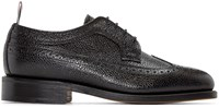 Thom Browne Black Pebbled Leather Brogues