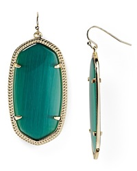 Kendra Scott Danielle Earrings Dark Green Glass