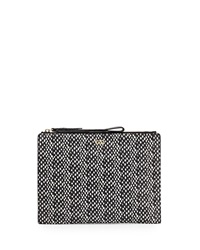 Cole Haan Reddington Medium Leather Clutch Bag Black Snak
