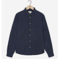 Realm And Empire Navy Long Sleeve Patched Shirt