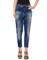 Met And Friends Denim Denim Trousers Women Blue