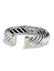 David Yurman Sculpted Cable Cuff With Gold Silver Gold