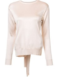 Cushnie Et Ochs Backless Knot Blouse Pink And Purple