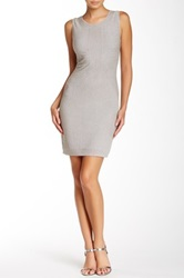 Carmen Marc Valvo Fitted Beaded Dress Metallic