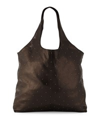 Lauren Merkin Scarlett Studded Leather Tote Bag Black