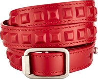 Balenciaga Triple Wrap Bracelet Red