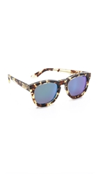 Wildfox Couture Classic Fox Deluxe Sunglasses Amber Tortoise Green