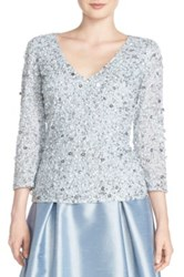 Adrianna Papell Sequin Top Blue