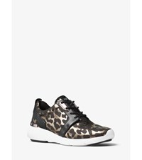 Amanda Animal Print Mesh And Leather Sneaker