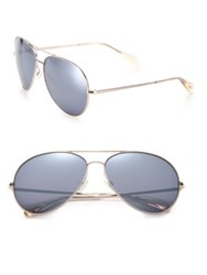 Oliver Peoples Sayer 63Mm Mirrored Lens Metal Aviator Sunglasses