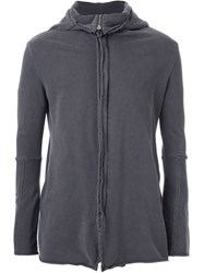 Strateas Carlucci 'Shield' Cowl Neck Hoodie Grey