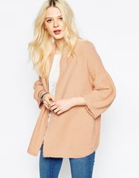 B.Young Open Knit Cardigan Sunset