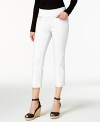 Jag Petite Echo Cropped Pull On Pants White