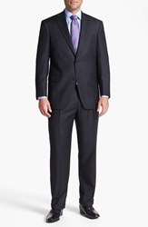 Men's Big And Tall Hart Schaffner Marx 'Chicago' Classic Fit Worsted Wool Suit Charcoal