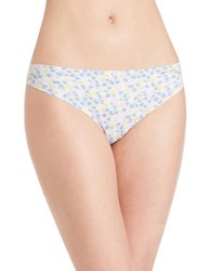 Calvin Klein Invisibles Printed Thong Panty Agile Blue