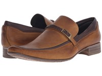 Massimo Matteo Braided Leather Mocc With Bit Caramelo Men's Slip On Dress Shoes Brown