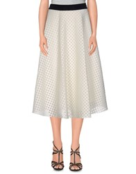 Roberto Collina Skirts 3 4 Length Skirts Women White