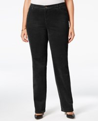 Charter Club Plus Size Tummy Control Corduroy Pants Only At Macy's Deep Black