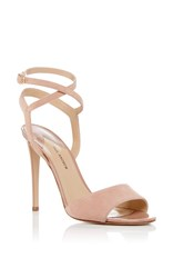 Paul Andrew Laura Ankle Wrap Heels Nude