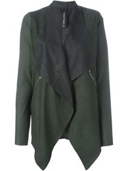 Giorgio Brato Pointy Hem Long Lapels Jacket Green