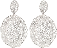 Aurelie Bidermann Silver Vintage Lace Earrings