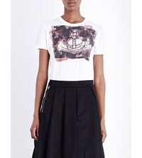 Anglomania Orb Block Cotton Jersey T Shirt White