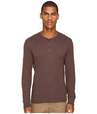 Billy Reid Long Sleeve Harper Henley Coffee