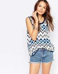 Vero Moda Striped Sleeveless Top Navy Base Pops Of C Multi
