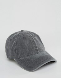 Asos Baseball Cap With Black Pigment Dye Black